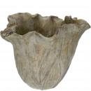 grossiste Plantes et pots: Seau à béton Leaf , D23cm, H19cm, gris-vert